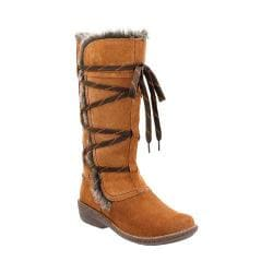 Women's Clarks Avington Hayes Lace Up Boot Tan Combination Cow Suede