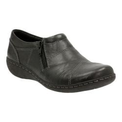 Women's Clarks Fianna Ellie Shoe Black Cow Full Grain Leather