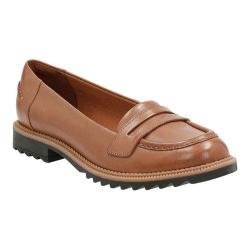 Women's Clarks Griffin Milly Penny Loafer Tan Leather