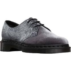 Women's Dr. Martens 1461 Embossed Velvet 3 Eye Shoe Grey Velvet 56in
