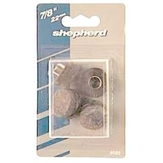 Shepherd 9934 1-inch Nail On Felt Floor Protectors (Pack of 8)
