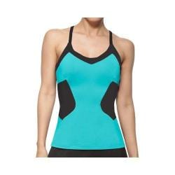 Women's Fila Platinum Cami Tank Teal Piranha/Black