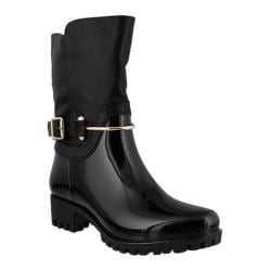 Women's Spring Step Coldin Rain Boot Black Synthetic