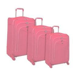 Olympia Luxe 3 Piece Luggage Set Pink image