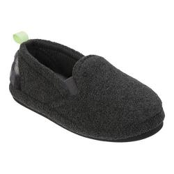 Boys' Dearfoams Fleece Closed Back Clog Slipper Dark Heather Grey