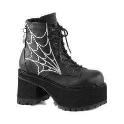 Women's Demonia Ranger 105 Ankle Boot Black Vegan Leather