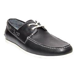 Men's Madden Gains Boat Shoe Black Synthetic