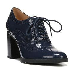 Women's Franco Sarto Maze Heeled Oxford Twilight Navy Mirage Patent Polyurethane