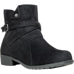 Women's Propet Shelby Ankle Boot Black Velour
