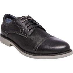 Men's Steve Madden Transmit Cap Toe Oxford Black Leather 21141912
