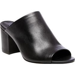 Women's Steve Madden Infinity Slide Black Leather