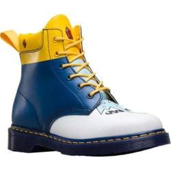 Dr. Martens 939 Ice King 6 Eye Boot White/Blue/Yellow Softy T/Smooth/PU
