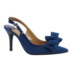 Women's J. Renee Charise High Heel Slingback Imperial Blue Suede