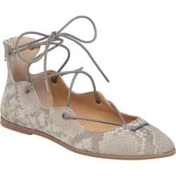 Women's Lucky Brand Billoh Ghilly Lace Up Flat Grout Snake Suede