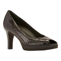 Women's Walking Cradles Tiger Pump Black Snake Print