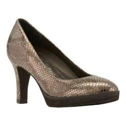 Women's Walking Cradles Tiger Pump DU 310 Pewter Snake Print
