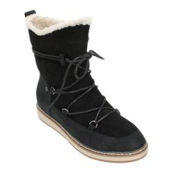 Women's White Mountain Topaz Moon Boot Black Suede