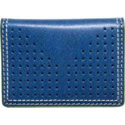 Men's J.Fold Airwave Leather Folding Card Carrier Royal Blue
