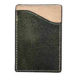 Men's J.Fold Shelby Flat Stash Leather Card Carrier Black