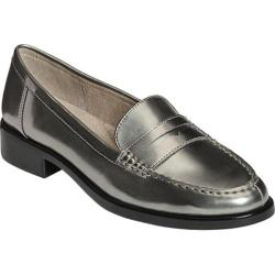 Women's Aerosoles Main Dish Loafer Dark Silver Metallic Patent