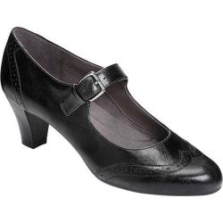 Women's Aerosoles Shoreline Mary Jane Black Faux Leather