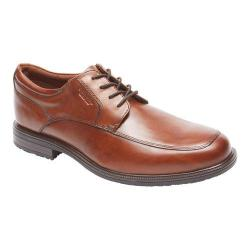 Men's Rockport Essential Details II Apron Toe Oxford Tan Antique Leather
