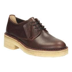 Women's Clarks Maru London Oxford Nut Brown Leather