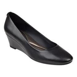Women's Easy Spirit Solna Wedge Black Leather