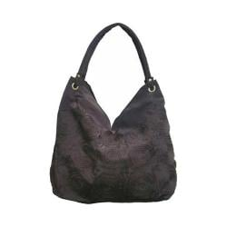 Women's Bamboo54 Hobo Embroidered Bag Dark Brown Flowers 27