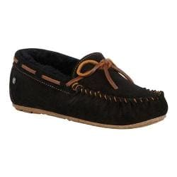 Women's EMU Amity Moccasin Black Sheepskin