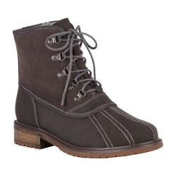Women's EMU Utah Waterproof Duck Boot Charcoal Leather