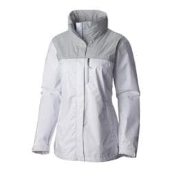 Women's Columbia Pouration Jacket White/Cirrus Grey