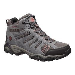 Men's Columbia North Plains II Waterproof Mid Hiking Boot Dark Grey/Garnet Red