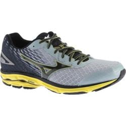 Men's Mizuno Wave Rider 19 Running Shoe Pearl Blue/Black/Bolt
