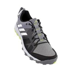 Men's adidas Kanadia 8 Trail Running Shoe Grey/White/Solar Yellow