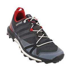 Men's adidas Terrex Agravic Trail Running Shoe Dark Grey/Black/Power Red