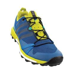 Men's adidas Terrex Agravic Trail Running Shoe Tech Steel/Black/Unity Blue