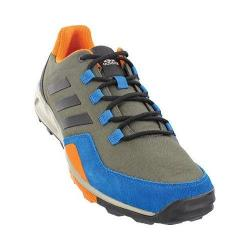Men's adidas Tivid Mid Low Hiking Shoe Utility Grey/Black/Unity Blue