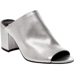 Women's Steve Madden Infinity Slide Silver Leather