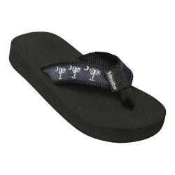 Children's Tidewater Sandals Navy Palmetto Navy/White