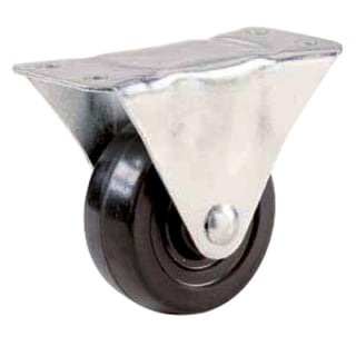 "Shepherd 9482 2-1/2"" Rubber Wheel Rigid Plate Casters"