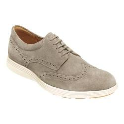 Men's Cole Haan Grand Tour Wing Tip Oxford Desert Taupe Suede/Ivory