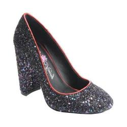 Women's Penny Loves Kenny Ritz Glitter Pump Red Glitter Fabric