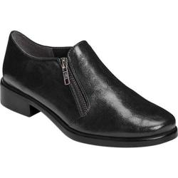 Women's A2 by Aerosoles Lavish Plain Toe Shoe Black Faux Leather