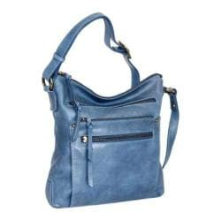 Women's Nino Bossi Tulip Petal Cross Body Bag Washed Blue