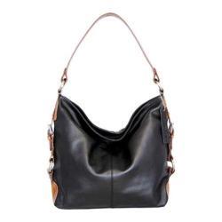 Women's Nino Bossi Violet Bloom Bucket Bag Black