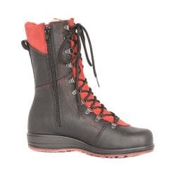 Women's Martino Banff Waterproof Boot Black/Red Grizzly Leather/Suede 21384154