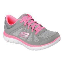 Women's Skechers Flex Appeal 2.0 Simplistic Training Shoe Gray/Hot Pink