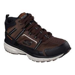Men's Skechers Geo Trek High Top Trail Shoe Brown/Black