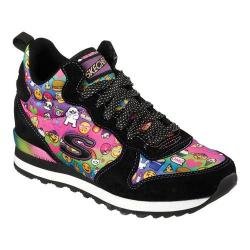 Women's Skechers OG 85 Oh Em Gee Hidden Wedge High Top Black/Multi